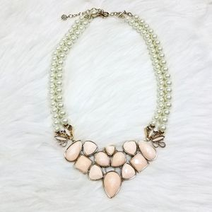 Talbots Layered Pearl Statement Necklace